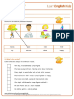 Story Time the Lump of Gold Worksheet