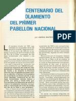 Enarbolamiento 1 Pabellón Nacional