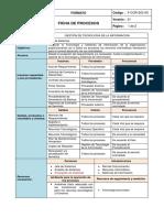 Formato de Ficha de Procesos