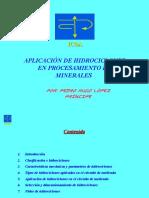 Aplicacion de Hidrociclones en Procesamiento de Minerales