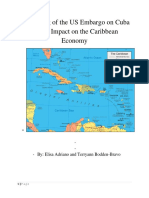 managerial economics -the lifing of us embargo on cuba and its impact on the caribbean economy