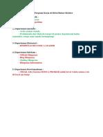 List Program Kerja Di Divisi Bulan Oktober