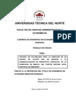 """""""ESTUDIO DE FACTIBILIDAD PARA LA CREACIÓN DE UN CENTRO DE ACOPIO QUE SE DEDIQUE A LA COMERCIALIZA.pdf"""