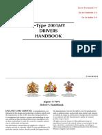 Jaguar S Type 2001 Owner Handbook