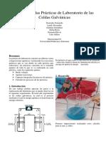 Informe 2 Celdas Galvanicas