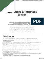 Apprendre à Jouer Aux Échecs-fr