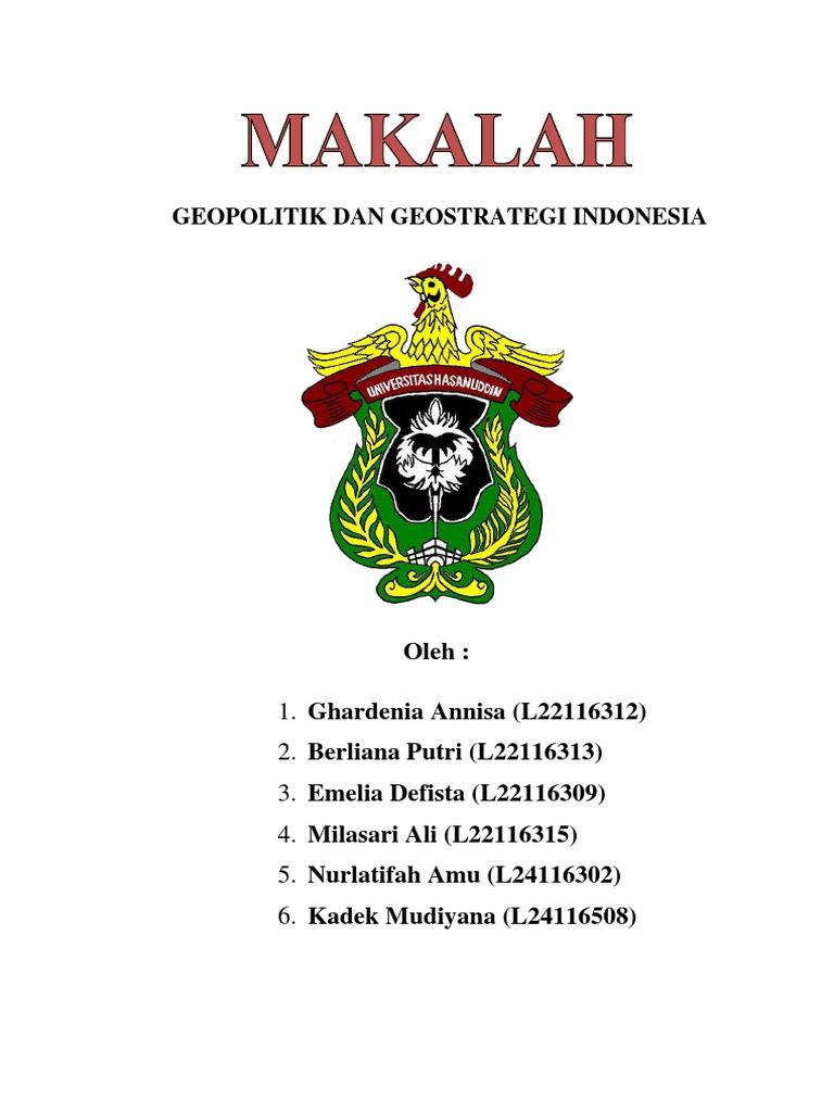 Makalah Geopolitik Dan Geostrategi Indonesia