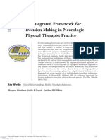 Ptj1681 an Integrated Framework for Decision Making in Neurologic Physical Therapist Practice