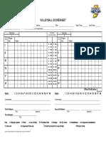 Rally Scoring Score Sheet