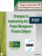 Strategies for Implementing the CMMI. Project Management Process Category