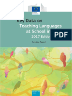 Key Data on Teaching Languages at School in Europe 2017 Edition