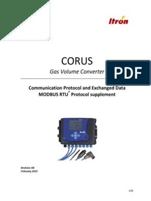 Corus_mid Com-protocol_modbus Rtu (1) | Communications Protocols
