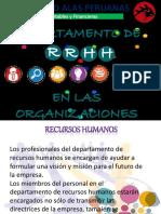 DEPARTAMENTO DE RECURSOS HUMANOS EN LAS ORGANIZACIONES.pptx