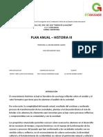 Planeacion Anual Historia III VESPERTINO