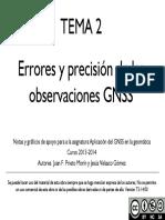TEMA 2 Errores y Precisión de Las Observaciones GNSS