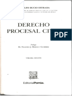 Derecho Procesal Civil Rodolfo Bucio Estrada