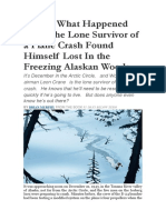 This is What Happened When the Lone Survivor of a Plane Crash Found Himself Lost in the Freezing Alaskan Woods