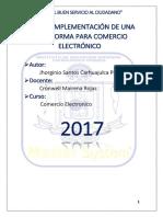 Plan de Implementación de Una Plataforma Para Tienda Online Venta Pc Laptops y Soporte Tecnico - Carhuajulca Pisco - Prof Cronwell Mairena Rojas