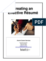 creating an effective resume 6 26 10