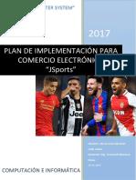 Plan de Implementación de Una Plataforma Para Tienda Online Venta de Ropa Deportiva - De La Cruz Sanchez - Prof Cronwell Mairena Rojas