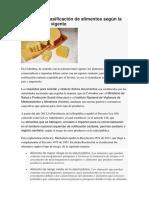 Conozca La Clasificación de Alimentos Según La Normatividad Vigente