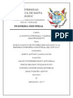 HOMOLOGACIÓN DE PROVEEDORES - LOGISTICA TRABAJO DE FASE 2