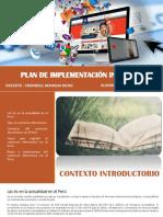 Plan de Implementación de Una Plataforma Para Tienda Online de Venta de Productos Electronicos - Julca Caro - Prof Cronwell Mairena Rojas - Diapositiva