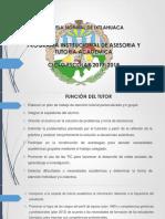 Presentacion Ejecutiva Tutoria 2017-2018