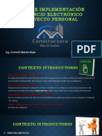 Plan de Implementación de Una Plataforma Para Tienda Online Constructora - Pinto Damian - Prof Cronwell Mairena Rojas - Diapositiva