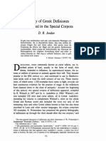 A Survey of Greek Defixiones
