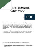 El Factor Humano de Elton Mayo