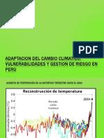 Adaptacion Del Cambio Climatico, Vulnerabilidades y Gestion