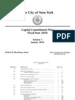 New York City Capital Commitment Plan FY 2010 Vol 3