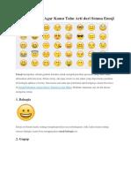 Baca Artikel Ini Agar Kamu Tahu Arti Dari Semua Emoji