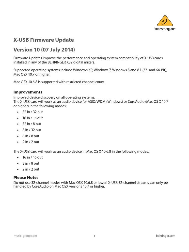 X-USB_Firmware_Update_V10_2014-07-09_Rev 2 pdf   Mac Os   Microsoft