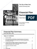 New York City Financial Plan 2010-2014 Summary
