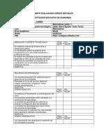 Formato Evaluacion Cursos Virtuales Ie Guaranda