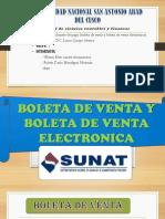 Boleta de Venta y Boleta de Venta Electronica 1