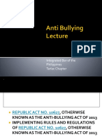 Anti Bullying Lecture for Teachers 2