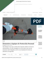 Elementos y Equipos de Protección Personal - Electricidad