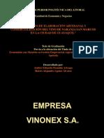 Producción y Comercialización Del Vino de Naranja San Marcos en La Ciudad de Guayaquil