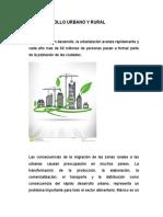 Desarrollo sustentable Urbano y Rural