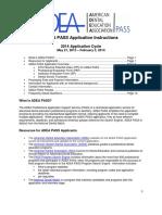 PASS Application Instructions