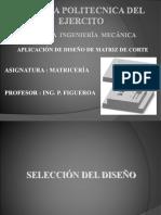 Aplicación de Diseño Matriz Corte