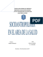 SOCIOANTROPOLOGIA - IMPORTACION, CARACTE