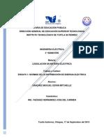 Ensayo 1 - Normas de la Distribución de Energía Eléctrica