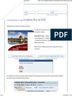 Maintain Depreciation Key - Asset SAP