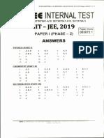 FIITJEE 79 Lot Phase 2 Answer Key