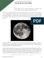 Las 7 Características de La Luna Más Importantes - Lifeder