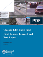 Chicago LTE Video Pilot Lessons Learned Test Report